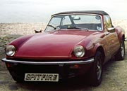 Triumph Spitfire at Clovelly