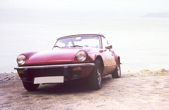 Photo of Triumph Spitfire at Clovelly Harbour 3