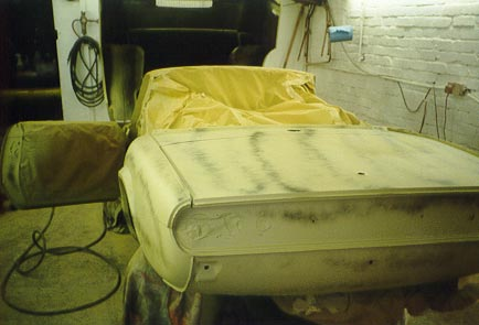 Photo of Triumph Spitfire During Bodywork Restoration 1