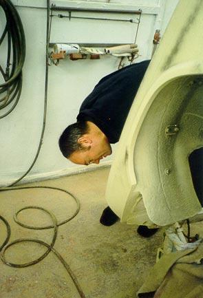 Photo of Triumph Spitfire During Bodywork Restoration 3