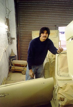 Photo of Triumph Spitfire During Bodywork Restoration 4