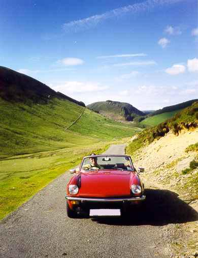 Photo of Triumph Spitfire near Lake Vyrnwy 1