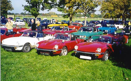Photo of Triumph Spitfires at the Triumph Show at Sandown Park 2